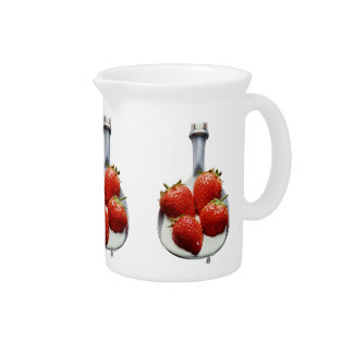 Strawberries and Cream Drink Pitcher
