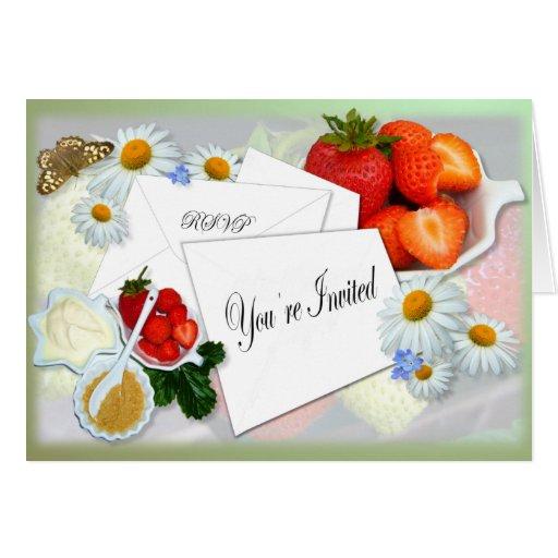 Strawberries and Cream ~ Invitation Card # 2
