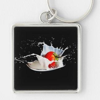 Strawberries and Cream Keyring/Keychain