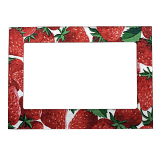 Strawberries and Cream Magnetic Picture Frame