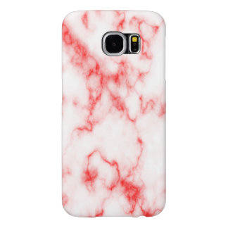 Strawberries and Cream Marble Pattern. Samsung Galaxy S6 Cases