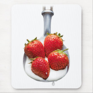 Strawberries and Cream Mouse Pad