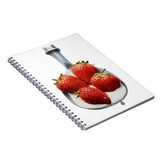 Strawberries and Cream Notebook
