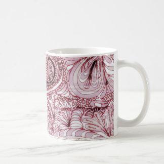 Strawberries and Cream Paisley Coffee Mug
