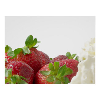 Strawberries And Cream Poster