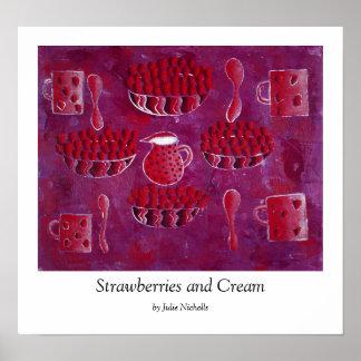 Strawberries and Cream Print