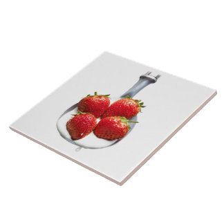 Strawberries and Cream Tile