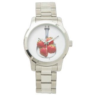 Strawberries and Cream Wrist Watch