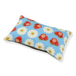 Strawberries and daisies pet bed