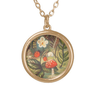 Strawberries and Mushroom Necklace