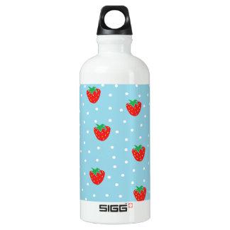 Strawberries and Polka Dots Blue SIGG Traveler 0.6L Water Bottle