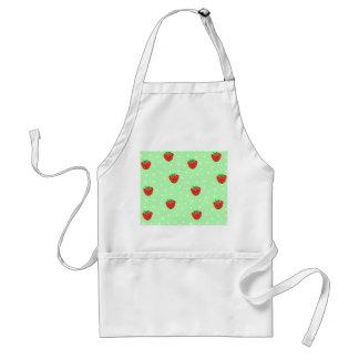 Strawberries and Polka Dots Mint Green Adult Apron