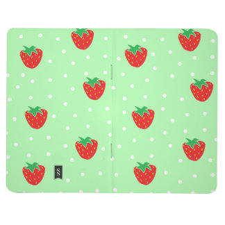 Strawberries and Polka Dots Mint Green Journal