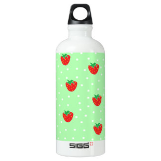 Strawberries and Polka Dots Mint Green SIGG Traveler 0.6L Water Bottle