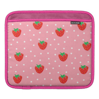 Strawberries and Polka Dots Pink Sleeve For iPads