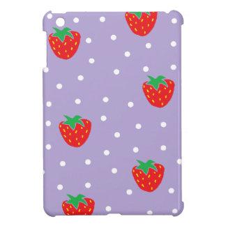 Strawberries and Polka Dots Purple iPad Mini Cover