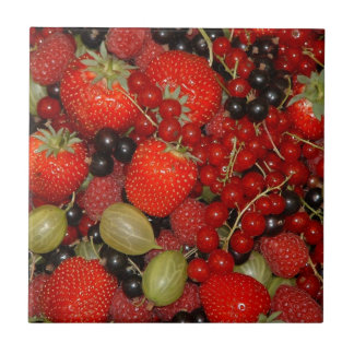 Strawberries, and summer fruits ceramic tile