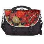 Strawberries, and summer fruits computer bag