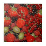 Strawberries, and summer fruits tiles