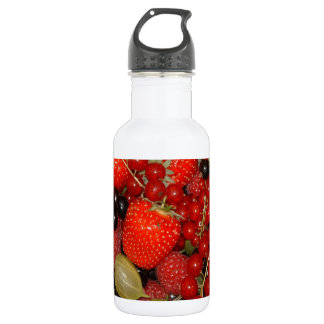 Strawberries, and summer fruits water bottle
