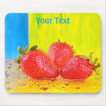 Strawberries and Water Drops Mousepad