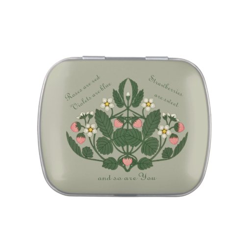Strawberries are sweet CC0376 Valentine Candy Tin