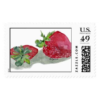 Strawberries Art Custom Postage Stamp