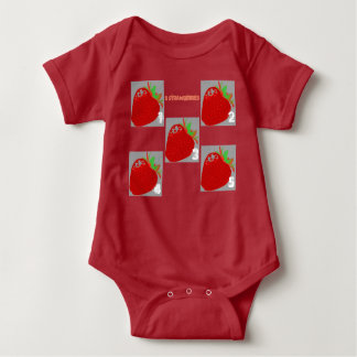 strawberries baby bodysuit