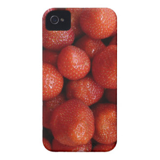 Strawberries Background iPhone 4 Cover