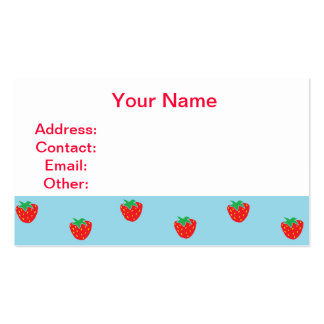 Strawberries Blue Business Card