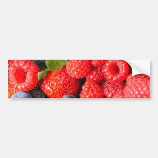Strawberries Blueberries and Raspberries Bumper Sticker