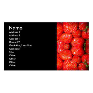Strawberries Business Card