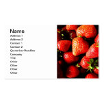 Strawberries Business Card Templates