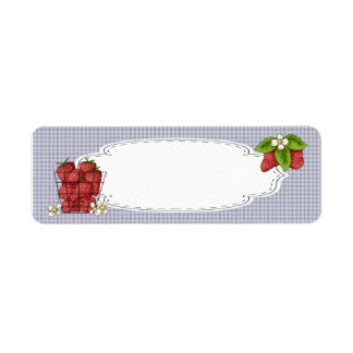Strawberries Canning Label Return Address Label