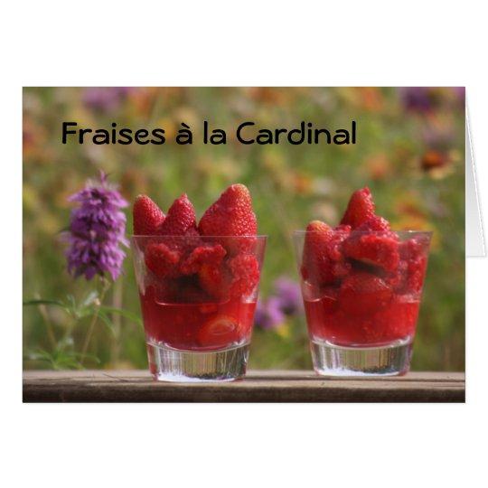 Strawberries Cardinal Card