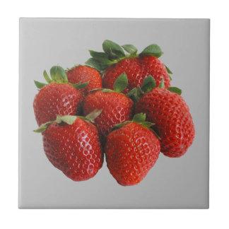 Strawberries Ceramic Tile