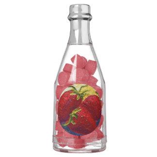 Strawberries Champagne Bottle Favor Gum Chewing Gum Favors