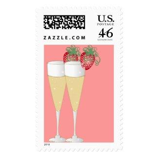 Strawberries & Champagne stamp