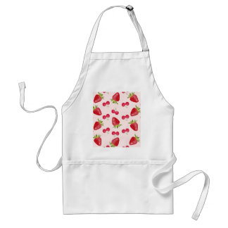Strawberries Cherries Fiesta Pattern Adult Apron