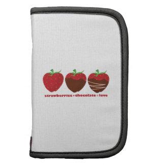 Strawberries & Chocolate Folio Planner