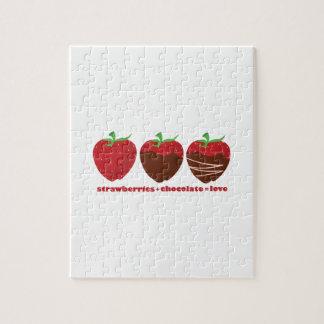Strawberries & Chocolate Jigsaw Puzzle