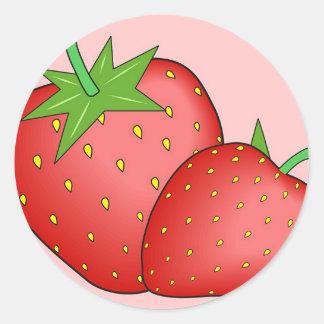 Strawberries Classic Round Sticker