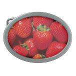 Strawberries Close-Up Belt Buckle