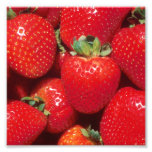 Strawberries Close-Up Photo Print