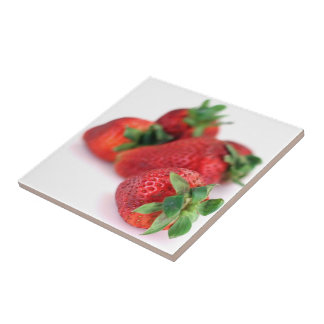 Strawberries Close up Photo Tiles