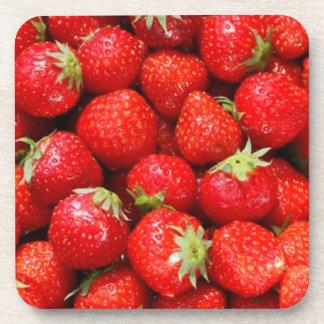Strawberries Drink Coasters