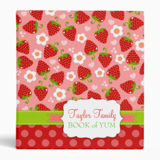 Strawberries Custom Binder