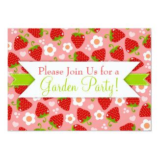 Strawberries Custom Party Invitations