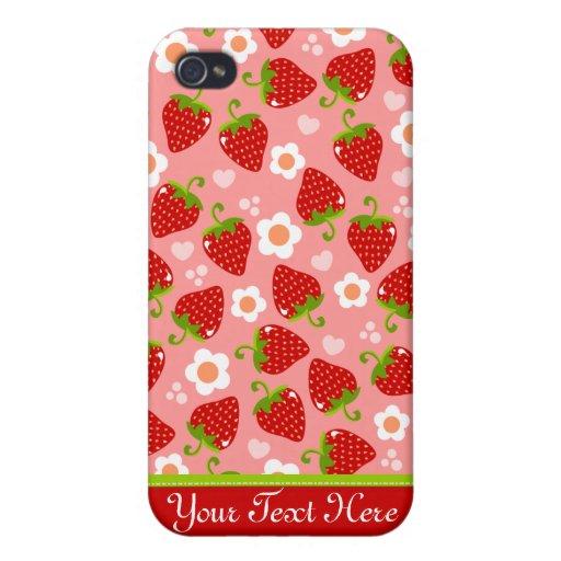 Strawberries Custom Phone Case iPhone 4 Cases : Zazzle