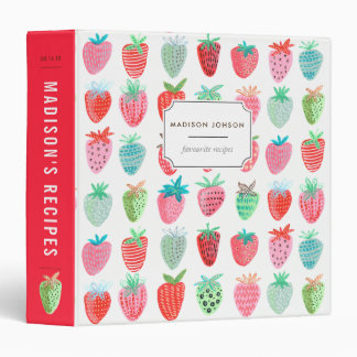 Strawberries   Custom   Recipe Binder